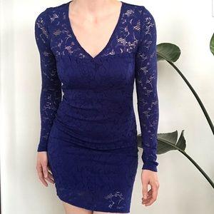 Royal Blue Lace Bodycon Dress